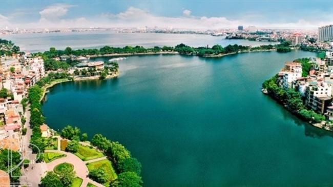 khung cảnh Hồ Tây